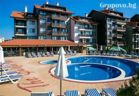 Нощувка , закуска и вечеря + басейн и СПА зона в Балканско Бижу апартхотел и Спа****, до Банско