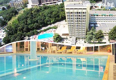 Нощувка със закуска и вечеря + басейн и СПА в хотел Шипка 4*, к.к. Златни Пясъци.