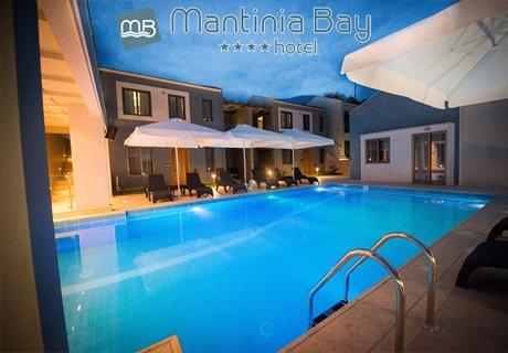 Септември на първа линия в 4- звезден хотел - Нощувка със закуска + басейн от хотел Mantinia Bay**** в Микри Мантиния, Гърция!