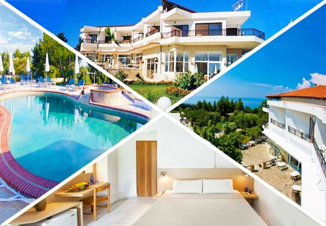 Септември в Халкидики, Гърция! Нощувка със закуска и вечеря + басейн в хотел Pashos***, Криопиги