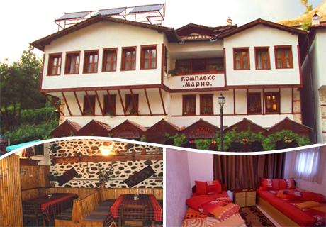 ТРИ нощувки със закуски и вечери + открит басейн в Хотел Марио, Мелник