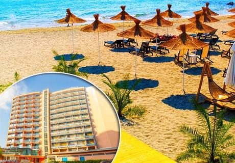 11 - 20 Юли на ПЪРВА ЛИНИЯ в Слънчев бряг! Нощувка със закуска и вечеря + напитки в хотел Шипка Бийч***