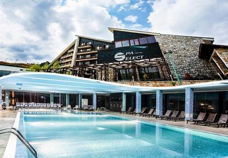 Нощувка на човек на база All Inclusive Light + МИНЕРАЛЕН басейн и СПА пакет в хотел Селект 4*, Велинград