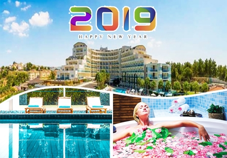 Нова година в Кушадасъ, Турция! 4 нощувки на човек на база All Inclusive + Новогодишна гала вечеря + СПА в хотел Sea Light Resort*****