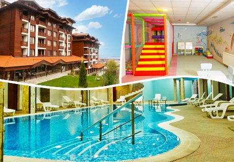 Нощувка на човек със закуска и вечеря, вътрешен басейн и релакс зона в Хотел Панорама Ризорт, Банско