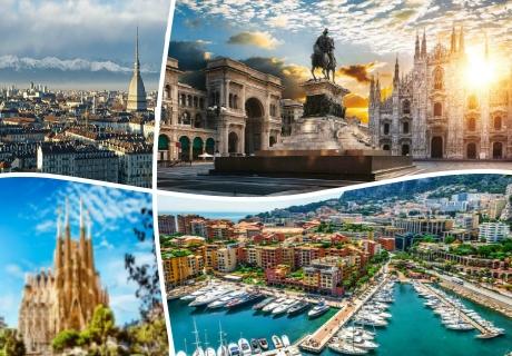 Екскурзия до Италия, Френската Ривиера  и Испания! Транспорт, 6 нощувки на човек със закуски  от ТА БОЛГЕРИАН ХОЛИДЕЙС КИТЕН
