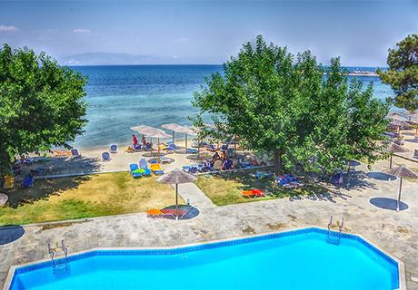 Лято на о.Тасос –Нощувка в двойна стандарта стая на база All Inclusive + басейн в хотел Sunrise Beach***