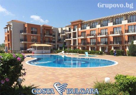 Нощувка със закуска и вечеря + басейн през Юли и Август в хотел Коста Булгара, Черноморец