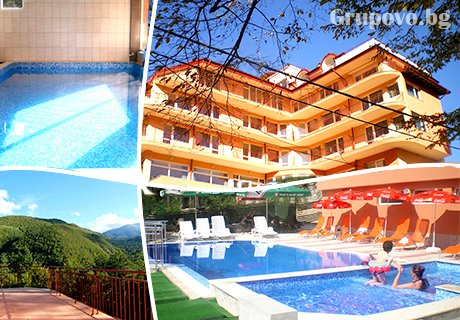 Нощувка, закуска, обяд и вечеря + 2 басейна и минерално джакузи в СПА хотел Костенец