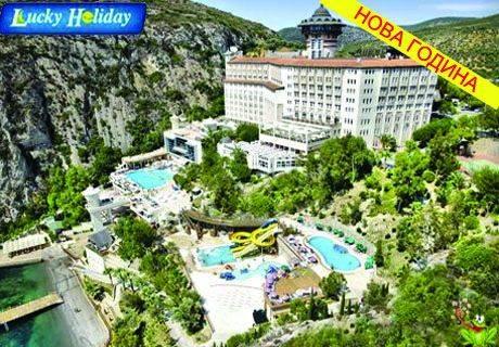 All Inclusive в Турция за Нова година! Вашите 4 дни в хотел Adakule 5*****, Кушадъсъ. Платете сега само 35 лв. и доплатете останалите при записване в офиса на туристическа агенция Лъки Холидей