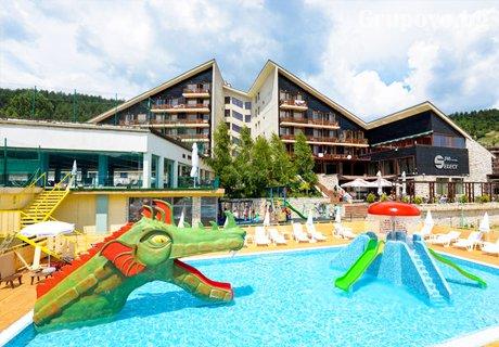 СПА почивка във Велинград! Нощувка със закуска и вечеря + МИНЕРАЛЕН басейн и детски аквапарк само за 39 лв. в СПА хотел Селект 4*