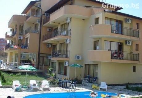Лято в Лозенец на 60м. от плажа! Нощувка, закуска, обяд и вечеря + басейн на цени от 29 лв. в хотел Атива***