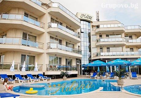 Нощувка за до 6 човека в апартамент + басейн от хотел Адена, Черноморец