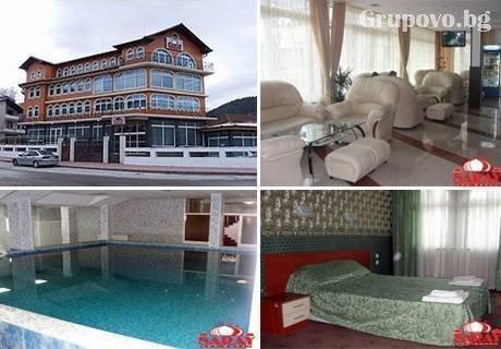 Нощувка, закуска, вечеря + басейн и релакс зона с МИНЕРАЛНА вода в хотел Сарай до Велинград