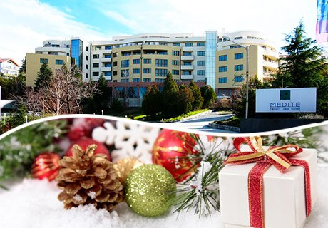Коледа в Сандански. Нощувка със закуска + МИНЕРАЛЕН басейн и СПА в Апартхотел Медите