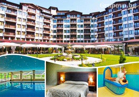 Балнео и СПА почивка във Велинград! 3 или 5 нощувки със закуски и вечери + 9 или 15 лечебни процедури в Балнео хотел Свети Спас 5*