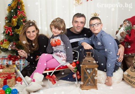 60 мин. Коледна студийна фотосесия с 50 обработени кадъра от професионален фотограф Чавдар Арсов, София