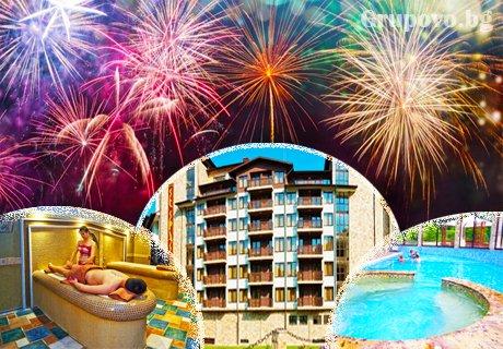 Нова година във Велинград: 3 или 4 нощувки със закуски и вечери + Новогодишен куверт, топъл басейн и много изненади от Балнео СПА хотел Свети Спас
