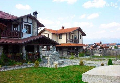 Вила Боряница в с. Баня до Банско за до 6 възрастни и дете до 4г. на цени 130-150 лв. на вечер с камина, барбекю, голям двор и много удобства