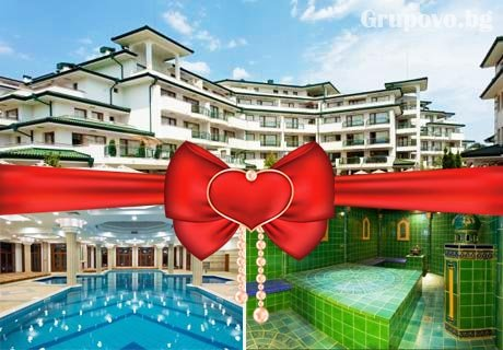Свети Валентин в Равда! Празничен куверт или нощувка, закуска, празнична вечеря + басейн, СПА и романтично джакузи в хотел Emerald Beach Resort & Spa*****