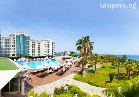 Ранни записвания за море в Дидим, Турция! 5* All Inclusive на брега на морето, 7 нощувки + 2 басейна от хотел Didim Beach Elegance. Дете до 12.99г. - БЕЗПЛАТНО