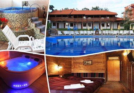 Лято в Хисаря! Нощувка, закуска, вечеря + 2 басейна с минерална вода и релакс зона от Еко стаи Манастира