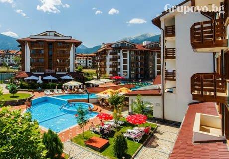 Април и Май в Банско! Нощувка в апартамент със закуска и вечеря + вътрешен басейн и СПА зона от Белведере Холидей Клуб, Банско