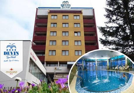 Нощувка, закуска и вечеря за двама или двама с две деца + басейн и релакс зона от СПА хотел Девин****