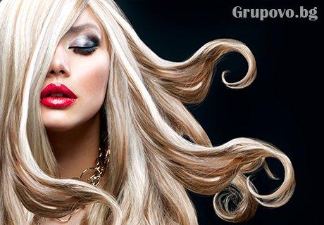 Боядисване професионална боя за коса LAKME + подхранваща терапия +сешоар от студио за красота Face!