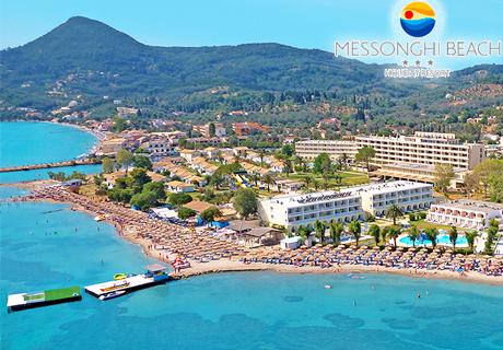 Цяло лято на база All inclusive +АКВАПАРК+ 4 басейна на първа линия в двойна стая с морски изглед на о. Корфу, Гърция