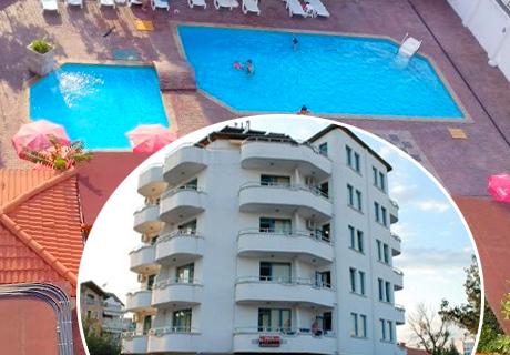 Цяло лято в РЕНОВИРАНИЯ хотел Алба Фемили Клуб, Приморско! 5 или 7 нощувки, закуски и вечери + БАСЕЙН на ТОП цени