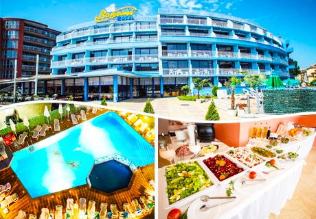 Цяло лято Аll Inclusive + басейн на ТОП ЦЕНИ  в хотел Бохеми***, Слънчев бряг. Дете до 12г. - БЕЗПЛАТНО!!