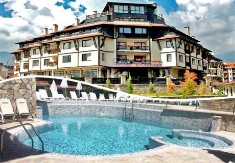Нощувка на човек със закуска, вечеря, напитки + басейн и релакс пакет в хотел Мария-Антоанета Резиденс****, Банско